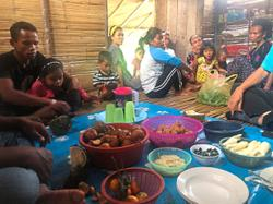 The Semai Orang Asli continue to consume ulam in their daily diet