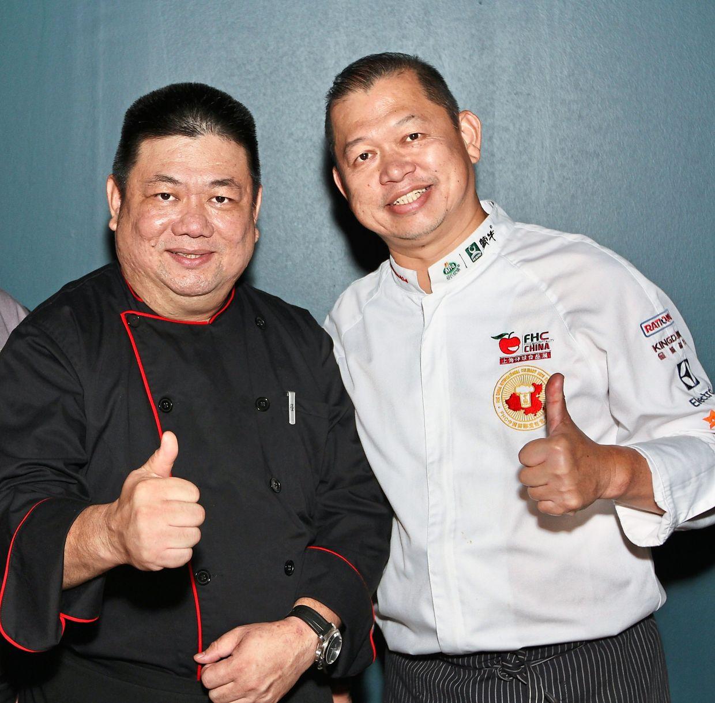 Malaysian-born chefs Yap (left) and Chung are showcasing Macanese cuisine in Kuala Lumpur.