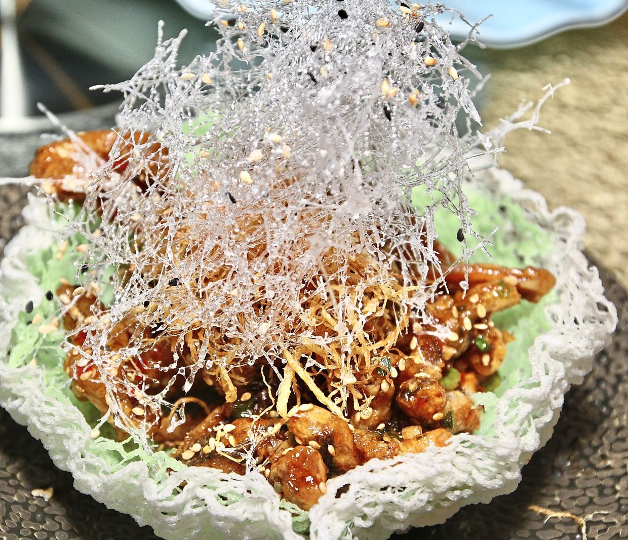 The crispy and savoury Suzhou Style Crispy Eel is a delight.