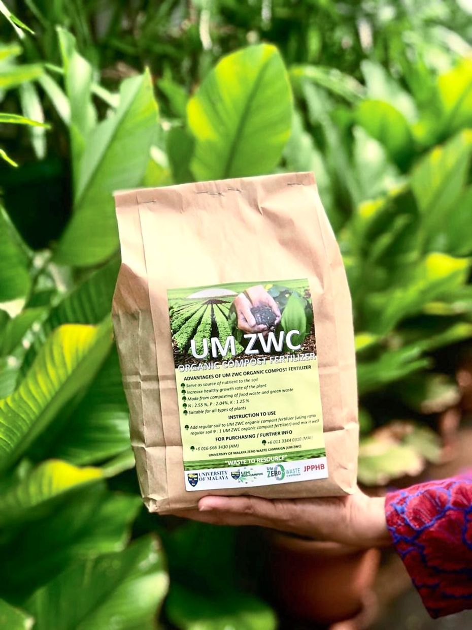 UM-ZWC's organic fertiliser is made by composting food and garden wastes.