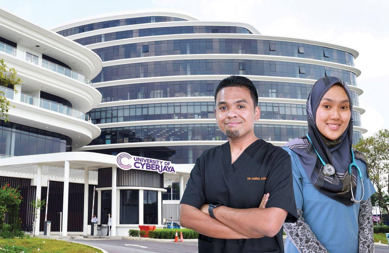 University of Cyberjaya alumni, Dr. Amirul Azhar Zulkifli, and Dr. Aziezah binti Norul Anhar were part of the government's Covid-19 pandemic response.