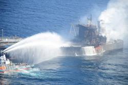 Fire on supertanker off Sri Lanka extinguished - navy spokesman