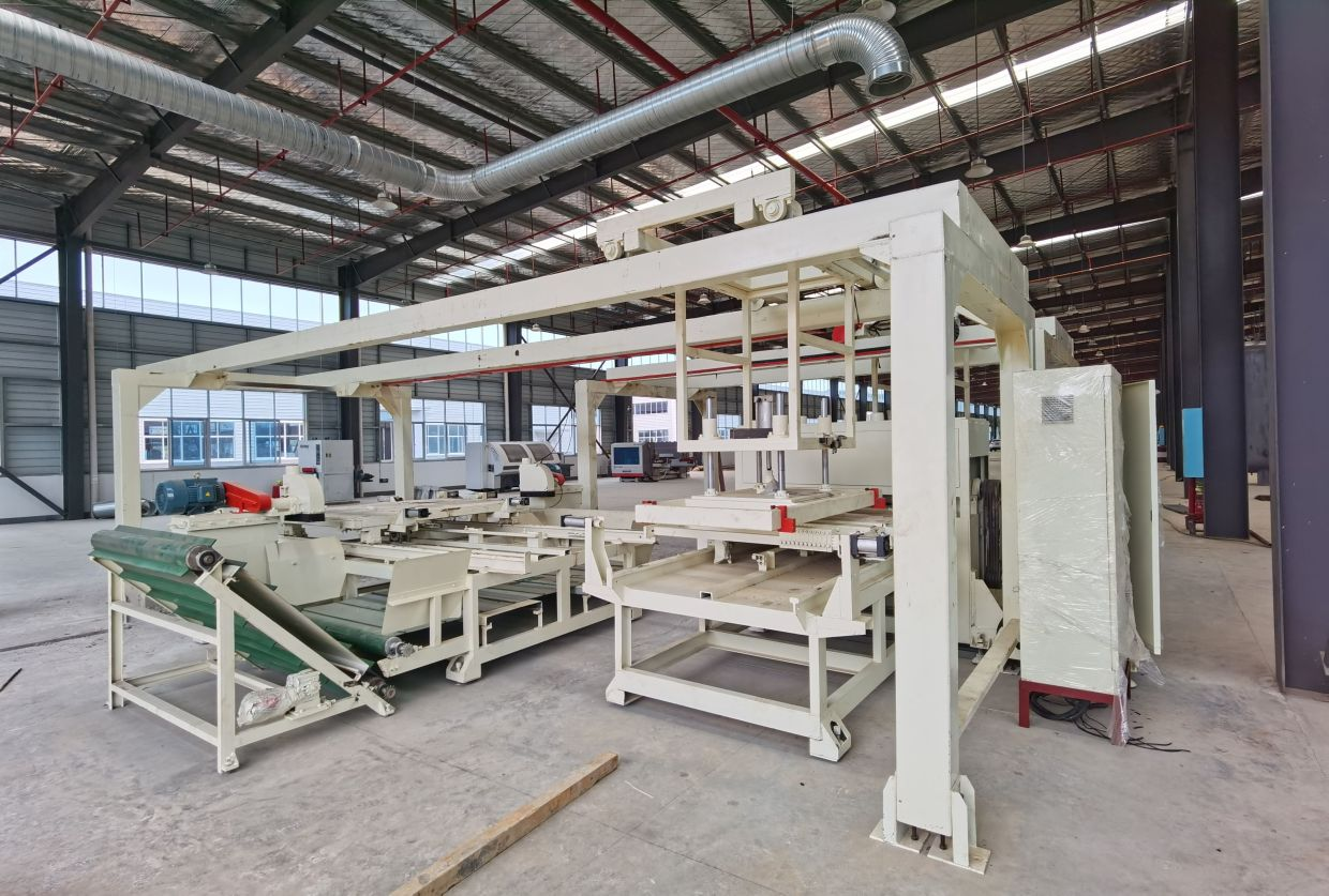 Bamboo processing machinery at the Kanger plant in Jingzhou.