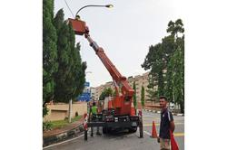 Council's overhead solution to fixing street lights in Klang