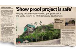 MPAJ: Slope stabilisation works ongoing at Ukay Perdana construction site