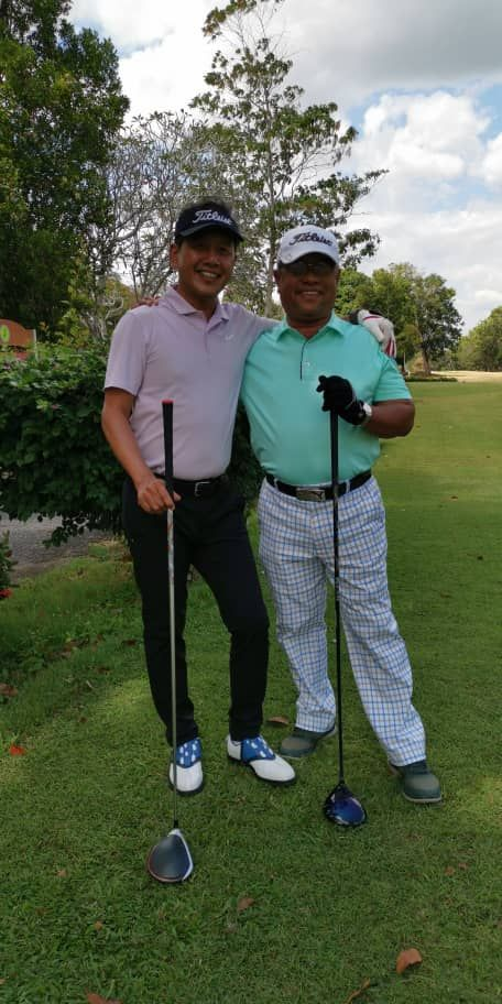 Captain Izham (left) recommends golfing in Kedah. Photo: Captain Izham Ismail