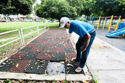 Playground mats turn into mosquito breeding ground