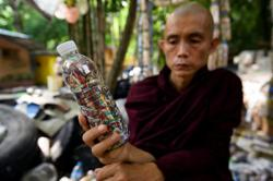 Myanmar's upcycling monk leads push to cut plastic waste