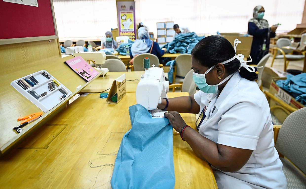 At one point, Malaysia was so short of PPE that medical staff were doubling as seamstresses to make their own.
