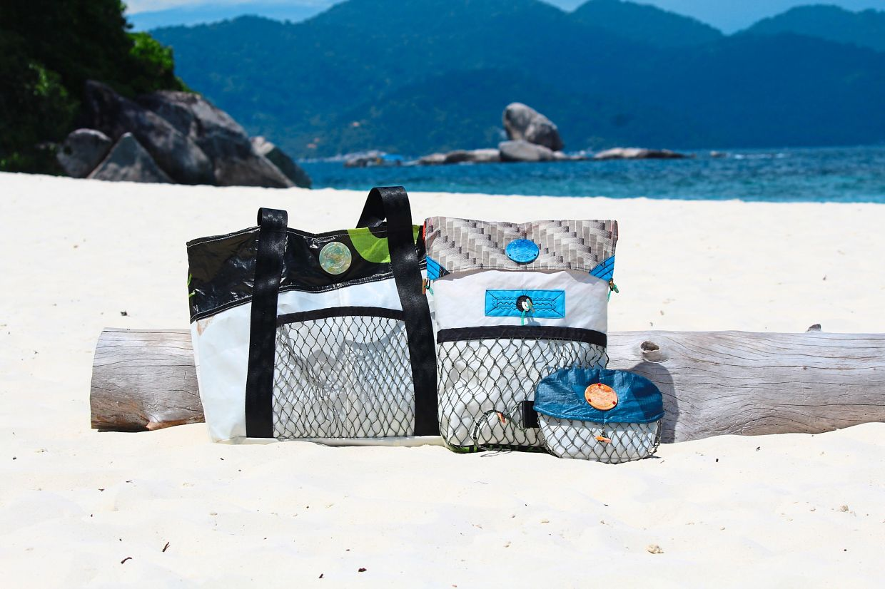 The Sea Monkey Project's upcycled bag range.