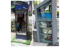 Doors smashed and power cables pulled out at some book kiosks