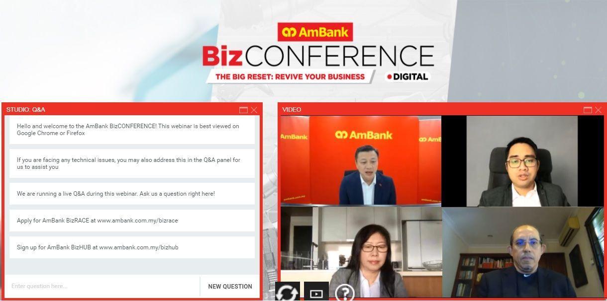 AmBank BizCONFERENCEs were held virtually this year.