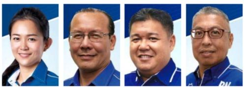 Eager to serve: Dr Chang, Lu, Chan and Chew will be contesting the Likas, Kapayan, Elopura and Karamunting seats respectively.