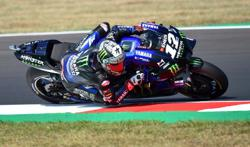 Yamaha's Vinales sets lap record to claim pole at San Marino Grand Prix