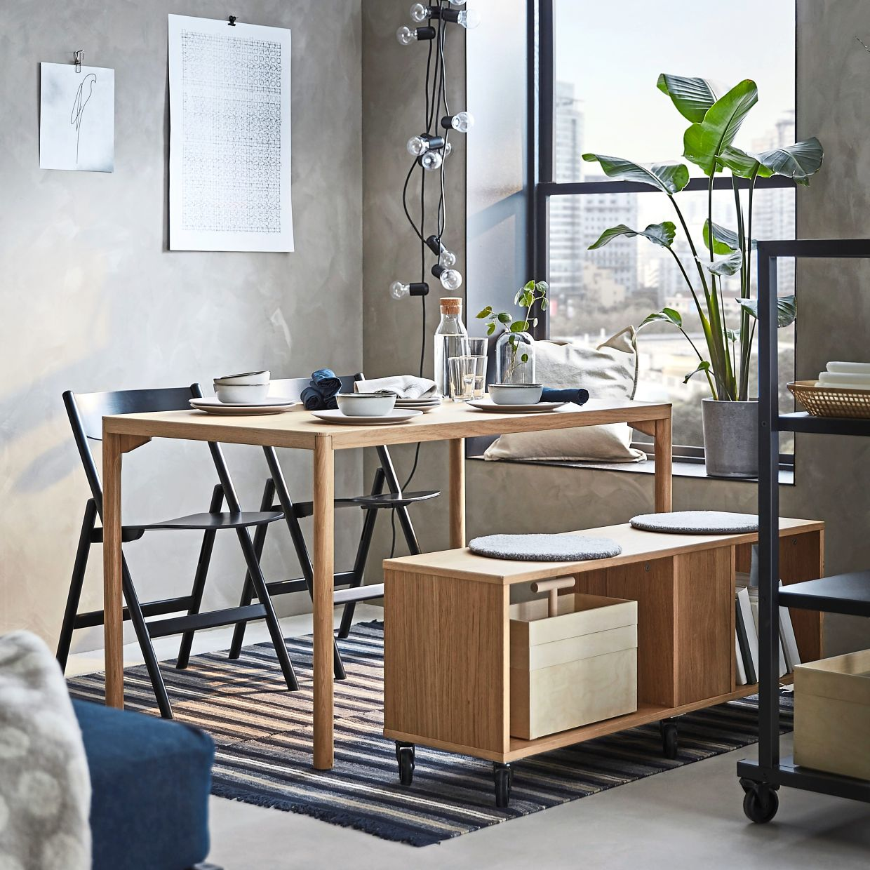 The Ravaror collection includes functional items that can quickly turn small spaces into smart spaces.
