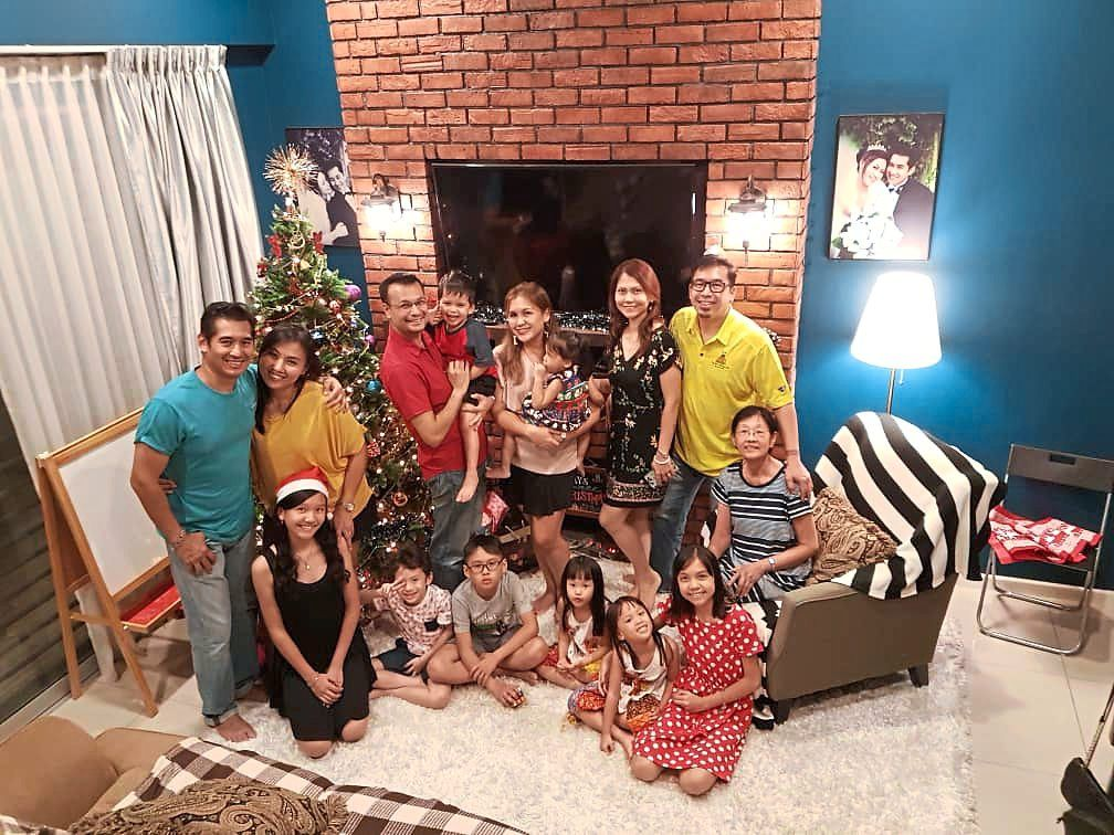 With Massang's family during Christmas 2018. Photo: Paul Massang