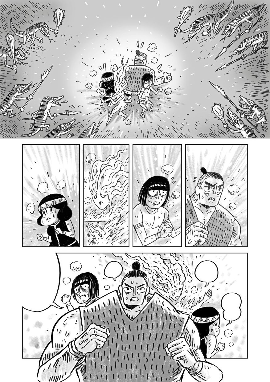 A page from Kwan and Sondoh's 'Legend Of Ancient Borneo' comic, which inspired an animation short. Photo: Kwan Thung Seng