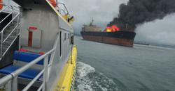 One dead, four missing after ship catches fire in Sulawesi