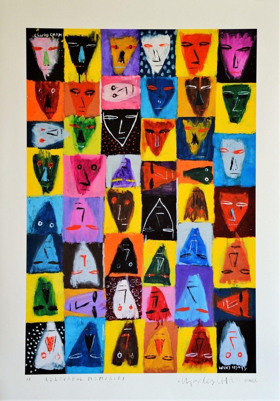 Cham's '#P011 - Colourful Memories' (Giclée print on Ilford cotton artist textured fine art paper). Photo: Charles Cham