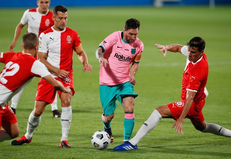 Football Messi At The Double As Improved Barca Beat Girona In Friendly The Star