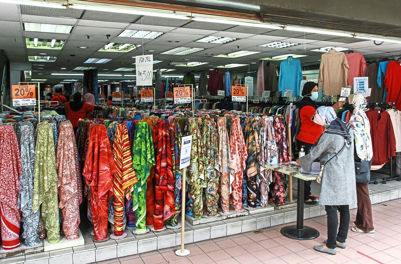 The pre-war shops along Jalan Tuanku Abdul Rahman carry an assortment of clothes, fabrics, textiles and food at attractive prices. THE STAR/ Chan Tak Kong