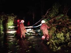 Violent winds lash Sarawak's coastal belt