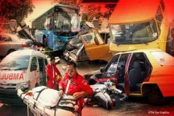 Three feared trapped after lorry, car crash