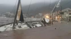 Rare Mediterranean storm batters Greece's Ionian islands