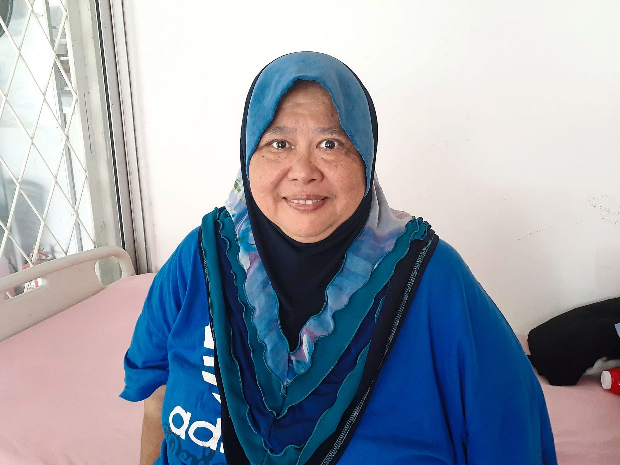 Nurshida Mah Yusof, 58, said she enjoyed being in her care home, where she was able to help others in the home and interact with other residents.