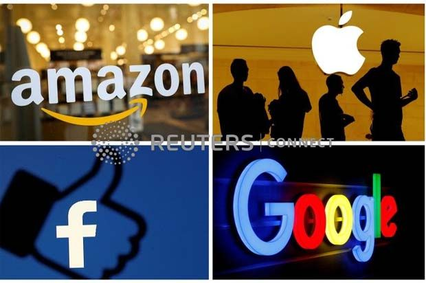 Apple Inc, Microsoft Corp, Amazon.com Inc and Alphabet Inc., which helped to fuel the market\'s rally off the March lows, were among the biggest drags on the S&P 500 and Nasdaq on Friday, while the S&P 500 technology index fell 1.7%, the biggest weight among the S&P 500 sectors. Apple was down 3.2%.