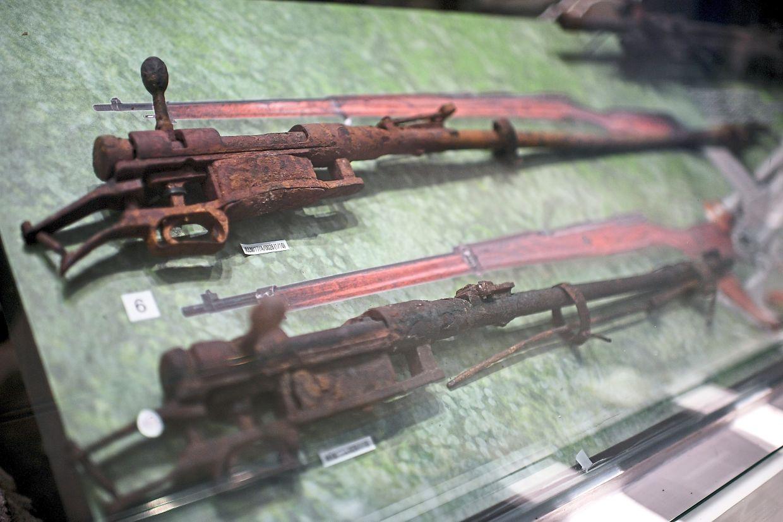 Rifles used by the Japanese army during the Battle of Jitra are on exhibit at Muzium Universiti Utara Malaysia, Sintok in Kedah.