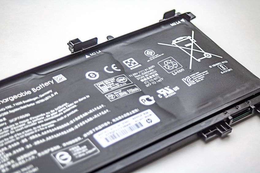 If the battery becomes bloated, you should get it replaced as soon as possible. — 123rf.com