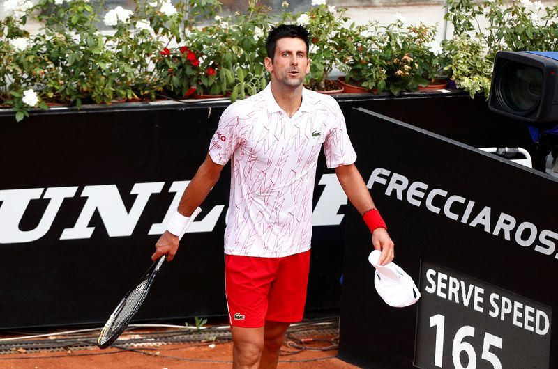 Tennis I M Not Perfect Says Djokovic After Losing Cool At Italian Open The Star