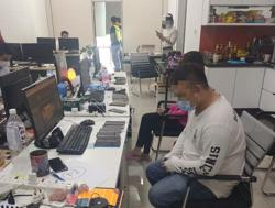 Eight detained in raids on online gambling centres
