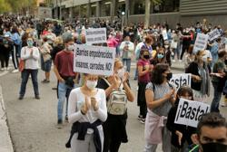 Protesters say localised lockdowns in Madrid discriminate against poor
