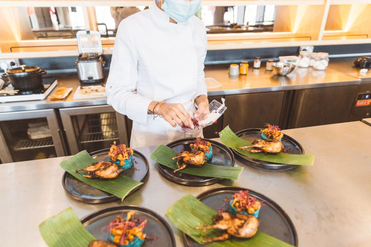 Personal chefs create personalised menus for their clients and often cook and plate meals on the spot in the clients' homes. — NURLIYANA RUSLI