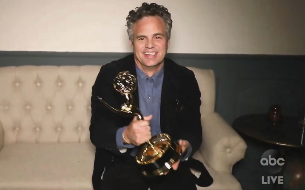 In this video grab, Mark Ruffalo accepts the award for Outstanding Lead Actor In A Limited Series Or Movie for 'I Know This Much Is True'