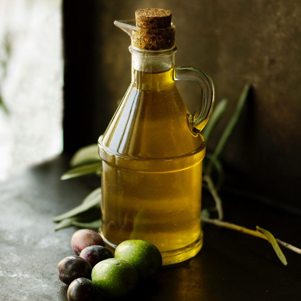 The saturated fats in olive oil help regulate your cholesterol levels.