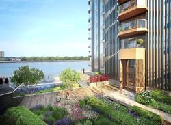 Panoramic views at riverside address