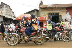 Meet the woman driving a motorbike taxi in eastern Congo