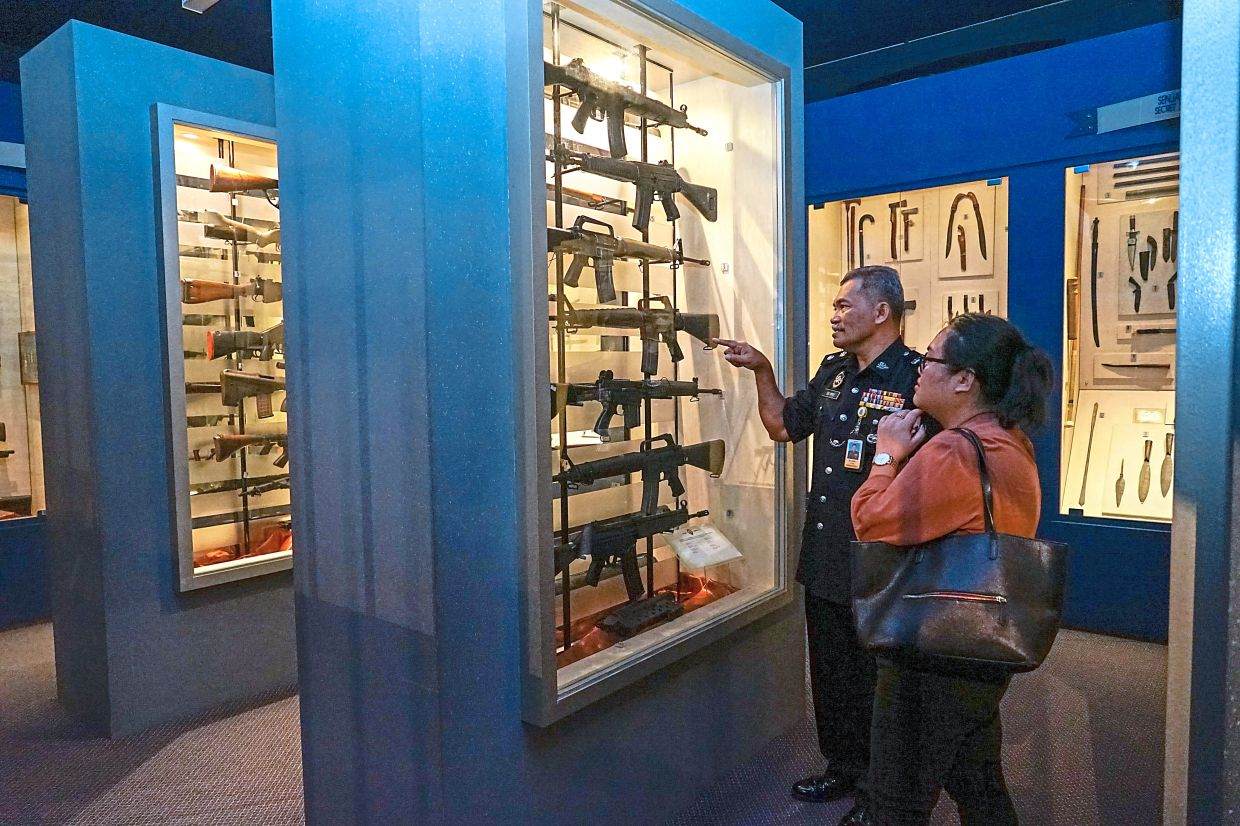 The exhibits at the museum also include a collection of ancient weapons, modern firearms, and defence weaponry. Photo: Bernama