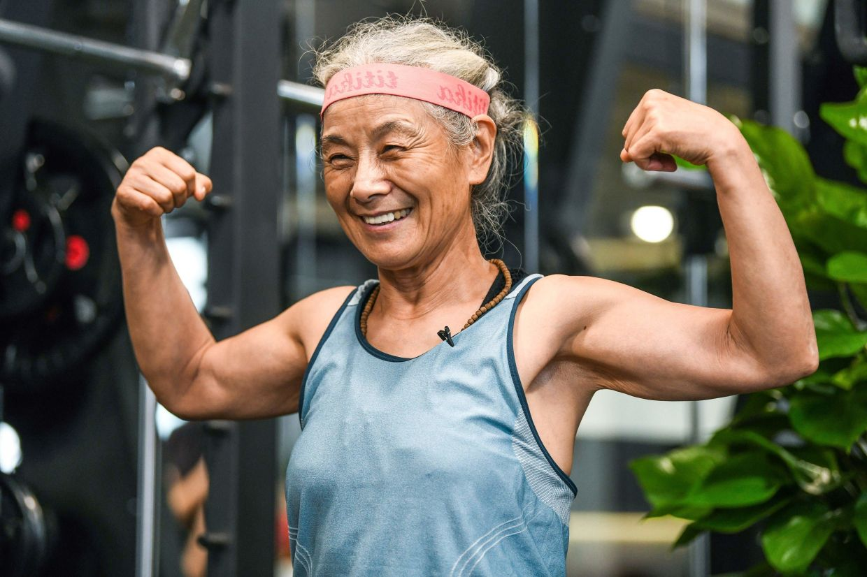 The admirable grandma is determined to carry on her daily gym routine for as long as she physically can.