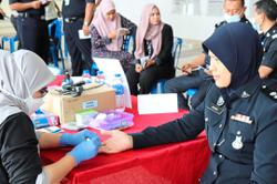 Free health screening for police personnel