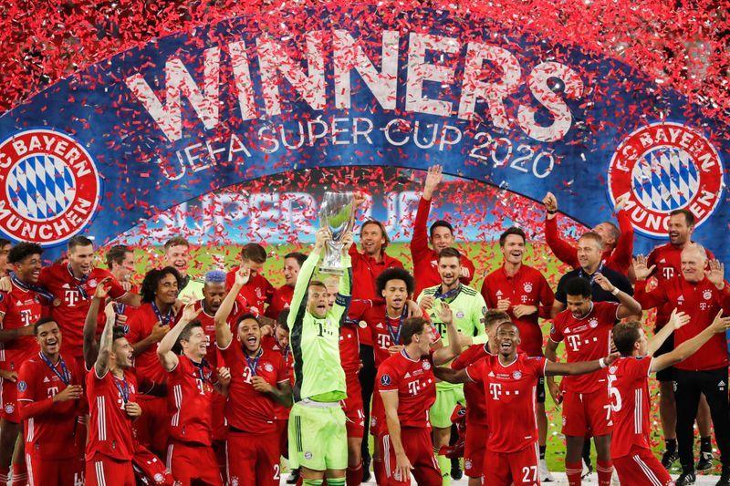 UEFA Super Cup 2020 bayern celebration 2