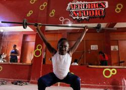 Kenyan weightlifting Olympian trains daughter and granddaughter