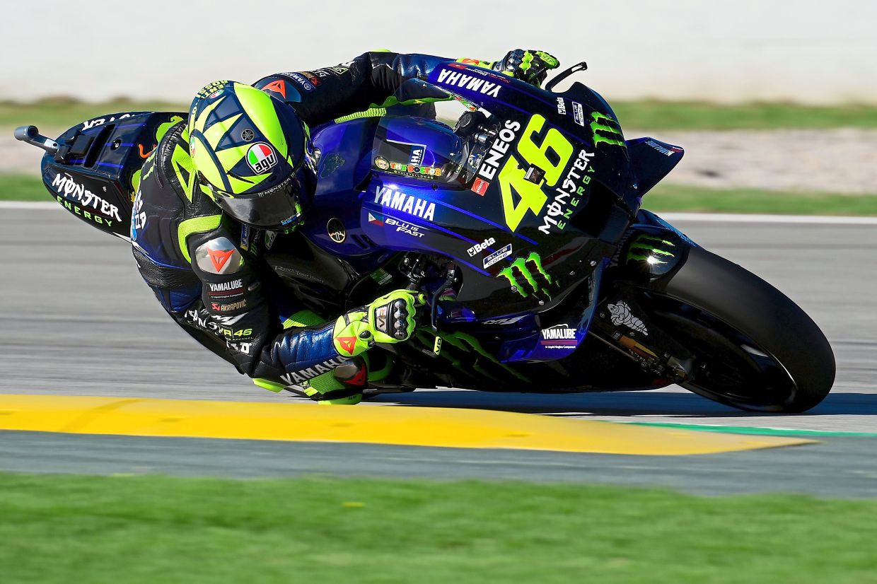 Motorsport Rossi Signs One Year Deal With Petronas Yamaha Team The Star
