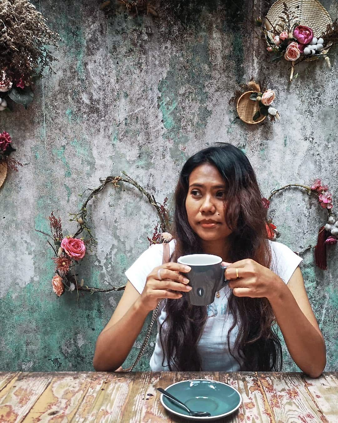 'Art to me is freedom, and expression. When I'm drawing, I escape into my head and that is when I am most present in the moment,' says Leny. Photo: LENY MAKNOH