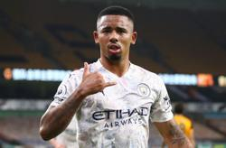 Manchester City's Brazil striker Jesus out for a month says Guardiola