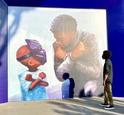 Disneyland unveils 'Black Panther' mural with Chadwick Boseman