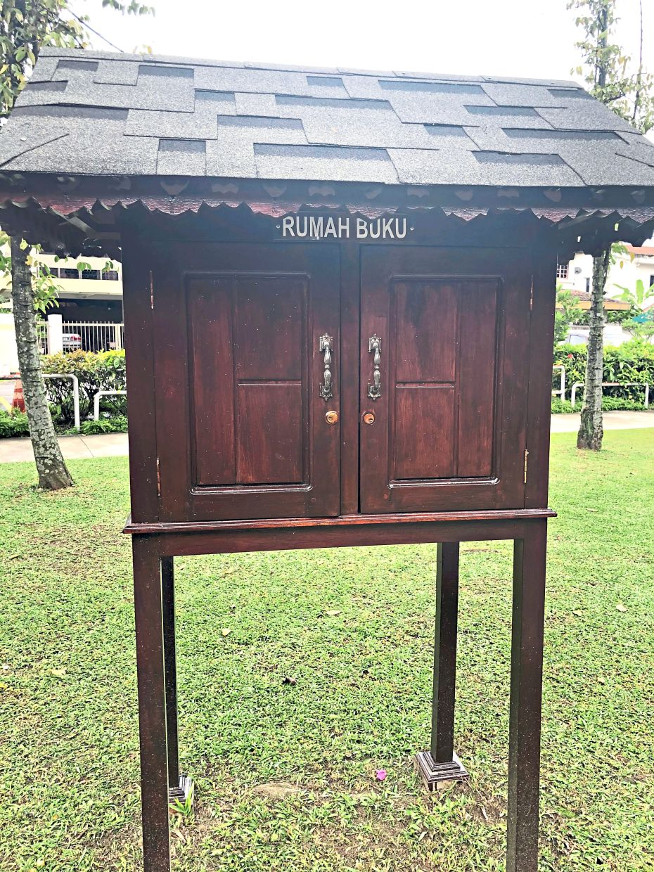Rumah Buku Taman Aman is a free community service and operates on the basis of trust as there is no person manning the facility. Photo: The Star/Ming Teoh